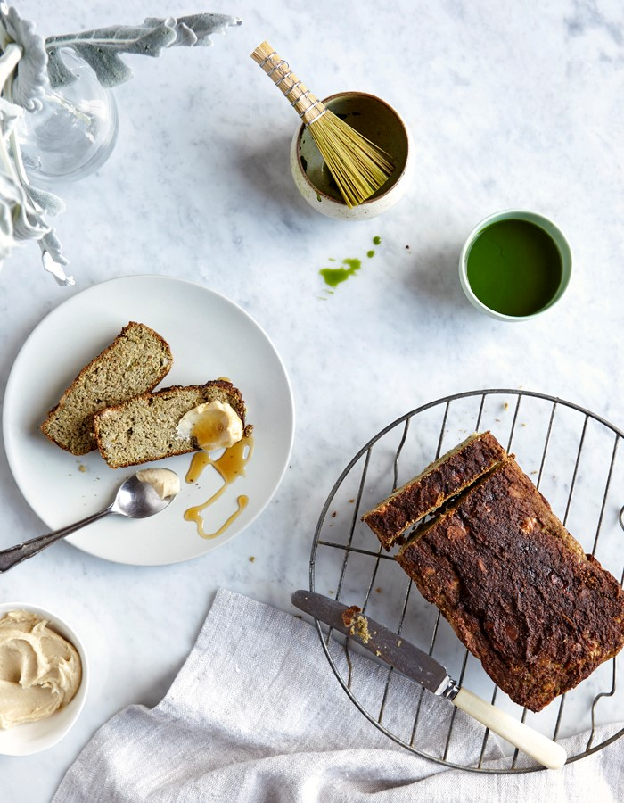 Eve Kalinik: Be Good to Your Gut. Matcha Banana Bread.